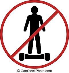 no electric skate symbol