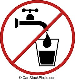 non potable water symbol - Creative design of non potable...