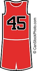 number 45 in basket shirt - Creative design of number 45 in...