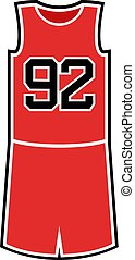 number 92 in basket shirt - Creative design of number 92 in...