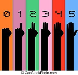 numbers hands illustration