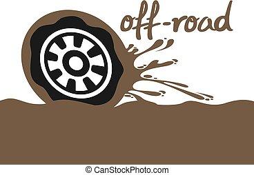 off road speed wheel illustration - Creative design of off...
