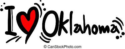 Oklahoma love - Creative design of Oklahoma love