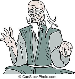 Old orienal man