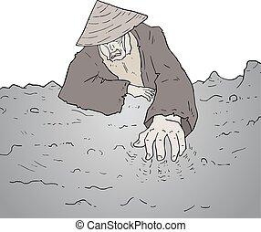 old oriental man
