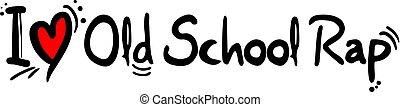Old School Rap music love - Creative design of Old School...