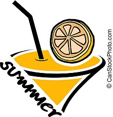 orange summer icon - Creative design of orange summer icon