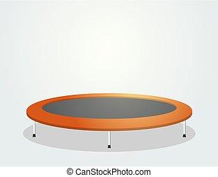 orange trampoline draw - Creative design of orange...