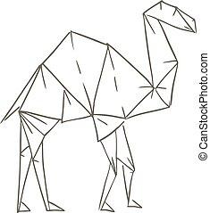 origami camel draw