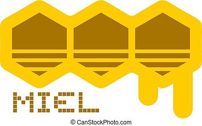Original honey icon in spanish