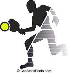 padel game player symbol