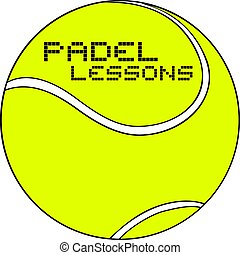 Padel lessons symbol