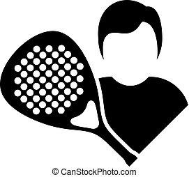 padel player symbol