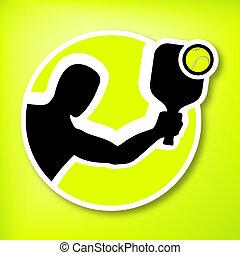 padel player symbol illustration