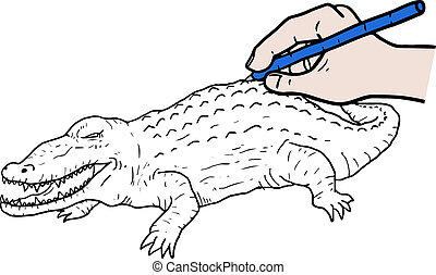paint crocodile