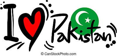 Creative design of Pakistan love message