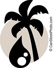 Creative design of palm oil symbol