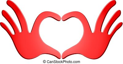 passion heart red symbol