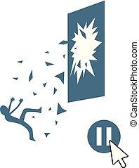 pause danger scene - Creative design of pause danger scene