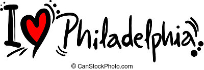 Philadelphia love - Creative design of Philadelphia love...