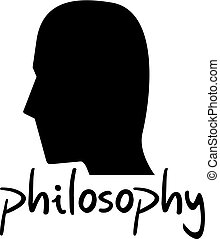 philosophy face icon - Creative design of philosophy face...