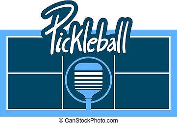 pickle ball court symbol - Creative design of pickle ball...