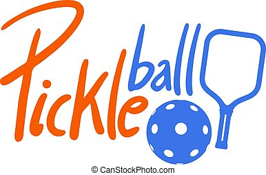 Creative design of pickleaball sport symbol nice cool