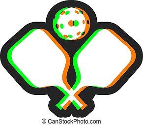 Creative design of pickleball effect symbol