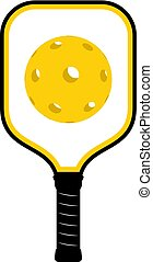 Pickleball racket icon - Creative design of Pickleball...