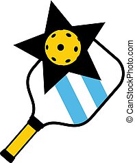pickleball racket symbol - Creative design of pickleball...