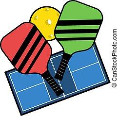 pickleball sport draw - Creative design of pickleball sport ...