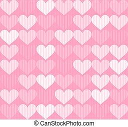 pink hearts texture design