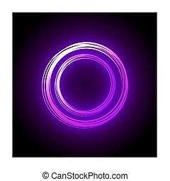 pink neon circle design