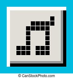 pixel music button