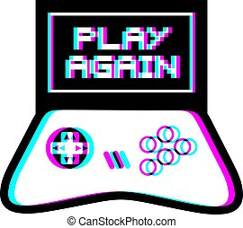 Play again video game message