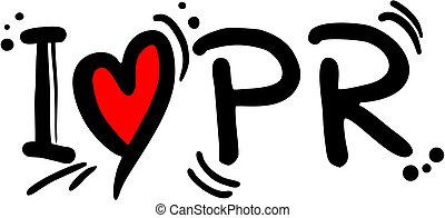 PR love - Creative design of PR love