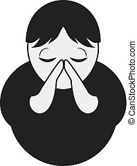 pray man icon - Creative design of pray man icon