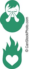 pray religion icon - Creative design of pray religion icon