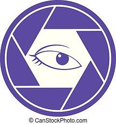 private eye cam icon - Creative design of private eye cam...