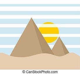 pyramid illustration scene
