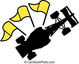 racing yellow flag symbol
