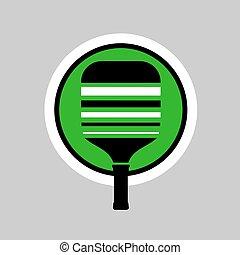 racket icon - Creative design of racket icon