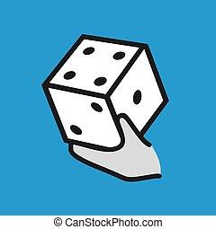 random game symbol - Creative design of random game symbol
