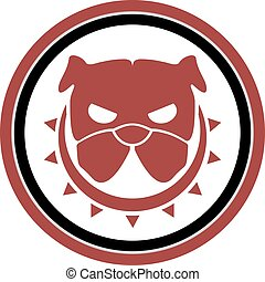 rebel dog icon - Creative design of rebel dog icon