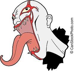 rebel monster face - Creative design of rebel monster face