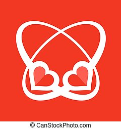 red abstract love heart symbol