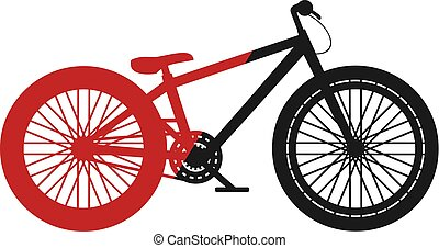 red and black jump dirt bike - Creative design of red and...