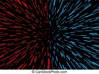 red and blue speed perspective