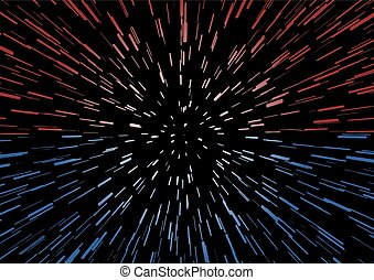 red and blue velocity effect