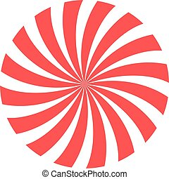 red and white circle spiral background